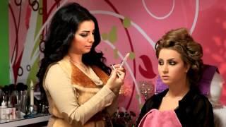 getlinkyoutube.com-مكياج خبيرة التجميل ناديه الشطي مع الموديل دانه لوك العروس ٢٠١٣
