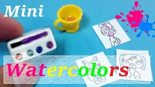 DIY Miniature Water Color Paint Set (Actually Works) - Doll Art Supplies