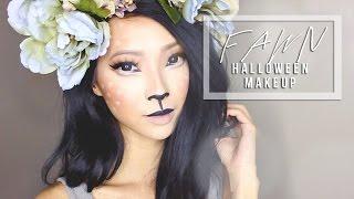 getlinkyoutube.com-Forest Fawn Costume Makeup & DIY Antlers