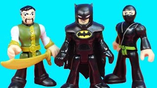getlinkyoutube.com-Imaginext Ra's Al Ghul And Shadow Ninjas Invade Wayne Manor Batman Bruce Wayne Alfred