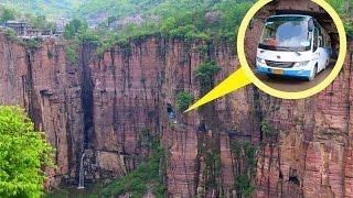 getlinkyoutube.com-Guo Liang Cun, Very Dangerous Road, But Very Beautiful Place in China