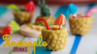 getlinkyoutube.com-Tropical Pineapple Fruit Drinks - How To Make a Pineapple Cane with Polymer Clay