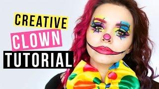 getlinkyoutube.com-CREATIVE CLOWN - Makeup Tutorial - Kostümidee für Karneval/Fasching ❤