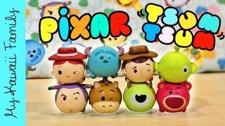 getlinkyoutube.com-Tsum Tsum PIXAR Version Blind Boxes! Japan Disney Toys! My Kawaii Family