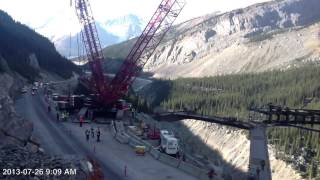 getlinkyoutube.com-Mammoet Liebherr LR1350 Rocky Mountains
