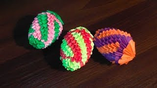 getlinkyoutube.com-3D origami Easter egg (v.2) master class tutorial