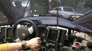 getlinkyoutube.com-[City Car Driving] Rainy day test drive with Porsche Turbo S rim on CSW v2