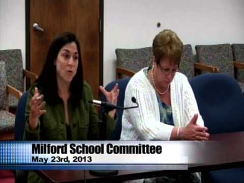 Milford School Committee meeting May 23, 2013