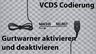 [Golf V] Gurtwarner aktivieren/deaktivieren mit VCDS Tutorial (HD)