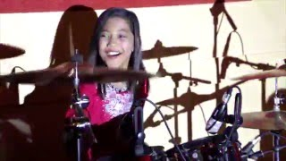 getlinkyoutube.com-Final Countdown Live Drum Cover - Nur Amira Syahira