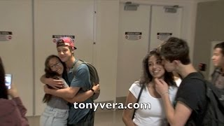 getlinkyoutube.com-Nash Grier and Cameron Dallas show love to fans at LAX
