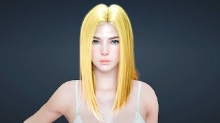 getlinkyoutube.com-Black Desert - Character Creation - Get a Long Straight Hair