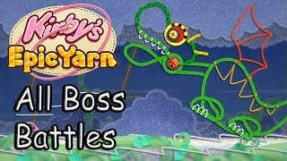 getlinkyoutube.com-Kirby's Epic Yarn All Bosses