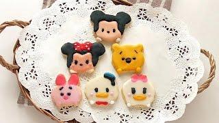 getlinkyoutube.com-Disney Tsum tsum icing Cookies  ツムツム クッキー ディズニー  ツムツム アイシングクッキー作り方