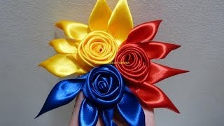getlinkyoutube.com-flores  y moños combinados en cinta raso para el cabello paso a paso