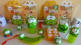 getlinkyoutube.com-2014 Cut the Rope Hungry For Fruit Toys Complete Set in Happy Meal McDonald's Europe Unboxing