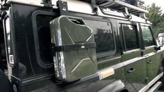 getlinkyoutube.com-Landrover Defender SURVIVAL-Mobil zum unteren Mittelklasse-Preis