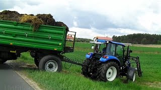 getlinkyoutube.com-Wiosenne manewry z New Holland T4.75 POWERSTAR, T5040