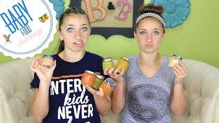 getlinkyoutube.com-Baby Food Challenge | Brooklyn and Bailey