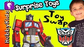 getlinkyoutube.com-Transformer Surprise Egg PORTAL! HobbyCousins Swap Toys HobbyKidsTV