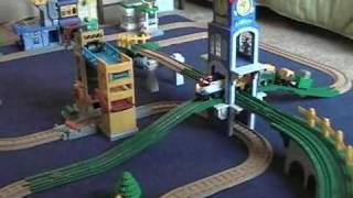 getlinkyoutube.com-Three GeoTrax Trains in Action