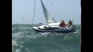 getlinkyoutube.com-MacGregor 26 sailing in 50 mph winds and big waves