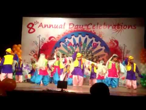 SAMSKAR SCHOOL - Kashmiri Folk Dance - Bhumaro - By UKG Samskarians - Annual Day 2014
