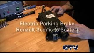 getlinkyoutube.com-Renault Scenic  Electric parking brake disassembly and troubleshooting