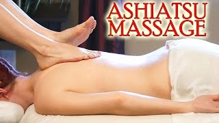 getlinkyoutube.com-Back Massage Using Feet! Ashiatsu Barefoot Deep Tissue Massage Techniques