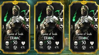 3 Master of Souls Ermacs IN ONE TEAM. This Is CRAZY. Mortal Kombat X Mobile.