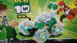 getlinkyoutube.com-BEN 10 360 DEGREE STUNT ROLLING CAR KIDS TOYS   Unboxing, Race, and Review!
