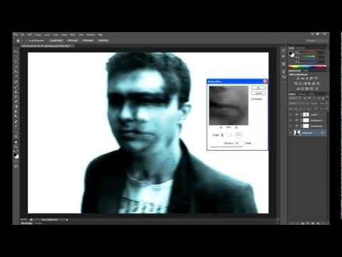 Photoshop CS6: blurry distorted style of face (tutorial)