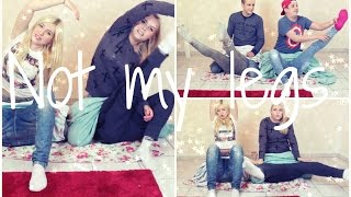 getlinkyoutube.com-NOT MY LEGS - CHALLENGE mit Timo, Bibi & Julian  | Dagi Bee