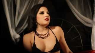 smoking fetish kinky fashion with Evilyn and her vampire fetish wearing lingerie fashion film