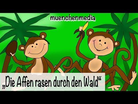 Kinderparty Musik - Die Affen rasen durch den Wald