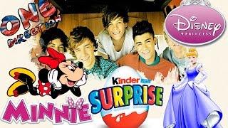 getlinkyoutube.com-Kinder Surprise Eggs One Direction Egg Surprise Minnie Mouse Surprise And Disney Princess Surprise