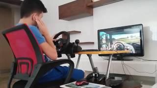 getlinkyoutube.com-Euro Truck Simulator 2 - DAF XF - Logitech Driving Force GT -