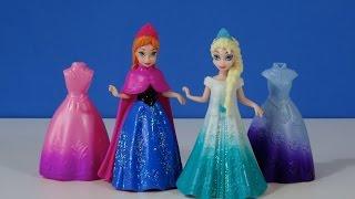 getlinkyoutube.com-Disney Frozen Anna y Elsa MagiClip vestidos Mini Muñecas - Juguetes de Frozen
