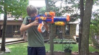 getlinkyoutube.com-Nerf War: Centurion Sniper