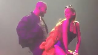 Rihanna X Drake grinding and affectionate at OVO fest in Toronto
