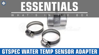 GTSpec Coolant Water Temperature Sensor Adapter- Whats in the Box?