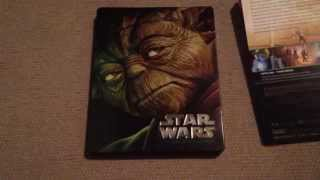 getlinkyoutube.com-Star Wars Episodes 1-6 Blu-ray Steelbook unboxing