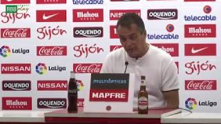 Rueda de prensa de Alexis Trujillo tras el partido contra el Real Sporting de Gijón