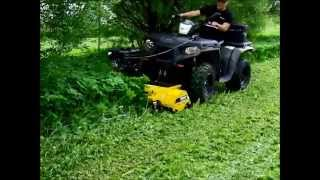 getlinkyoutube.com-Rammy Flail mower 120 ATV. Lawn and hay meadow cutting. Nurmikon ja heinäniityn leikkaus