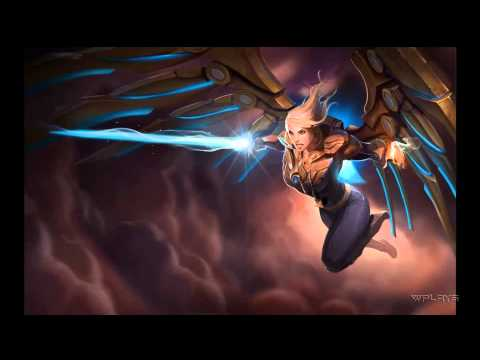 League of Legends - Aether Wing Kayle Login Screen and Music [1080p]