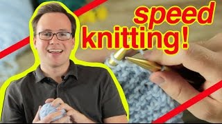 getlinkyoutube.com-Speed Knitting: How To Speed Knit and Speed Purl