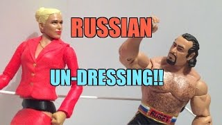 getlinkyoutube.com-WWE ACTION INSIDER: Lana and Rusev Mattel BATTLEPACK Series 34 Wrestling Figure Review