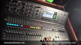 getlinkyoutube.com-Live sound check - Midas M32 /Knucklehead