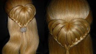 getlinkyoutube.com-СЕРДЦЕ из волос.Причёска для средних и длинных волос.Плетение кос/волос.Причёски для девочек в школу