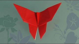 getlinkyoutube.com-How to Make a paper Butterfly, origami
